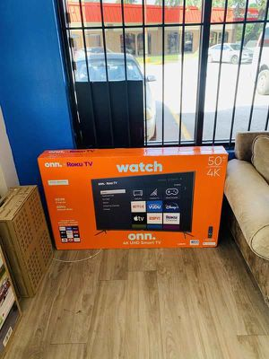 Onn plus roku tv 50 inch (80 down payment) P DQ for Sale in Dallas, TX