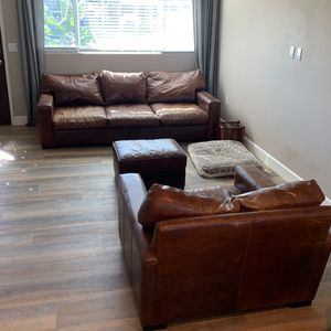 Leather Couch / Chair / Ottoman for Sale in Carlsbad, CA