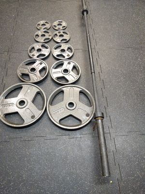 Olimpic Barbell and Weider set plates for Sale in Houston, TX