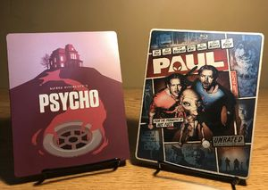 Psycho and Paul Steelbook (Blu-ray & DVD) for Sale in La Puente, CA