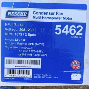 Rescue Condenser Motor HP- 1/3- 1/6 Rpm 1075 for Sale in Surprise, AZ