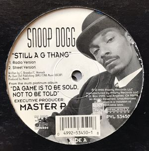 Snoop Dogg - Still A G Thang - (12-inch Vinyl Record) Single for Sale in Corona, CA