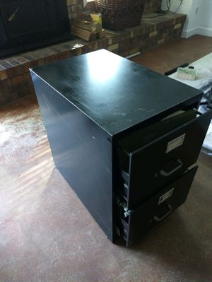 Blk filing cabinet clean great storage for Sale in Montgomery Village, MD