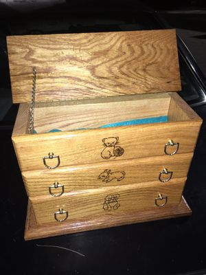 Solid oak Julie box only 15 firm for Sale in MD, US