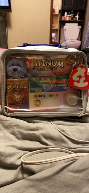 Rare ty beanie baby platinum membership set for Sale in Northfield, OH