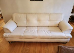 Ashley furniture White perfect leather couch excellent condition and very comfortable!! for Sale in San Pablo, CA