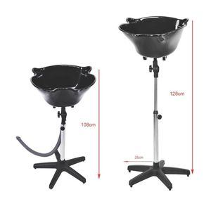 OmySalon Shampoo Basin for Salon SPA, Portable Hair Washing Bowl with Drain Hose, Deep Sink, Height Adjustable for Sale in Queens, NY