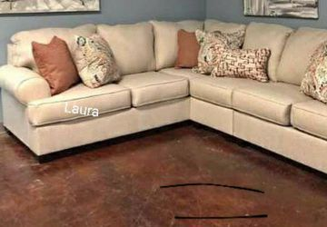 🧃same DAY free delivery 🐾 Amici Linen LAF Sectional ,sofa, couch living room set 🌾 for Sale in Bellaire,  TX