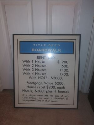 Monopoly Boardwalk Framed artprint for Sale in Duncanville, TX