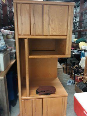 Solid oak Computer Desk,Two desktop outlet. for Sale in Denver, CO