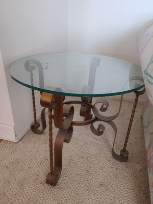 Antique Metal And Glass Table for Sale in Henderson, NV