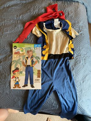 Jake and the Neverland Pirate costume size 3t-4t for Sale in Mukilteo, WA