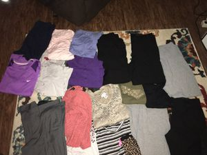 Mixture of maternity, men's and women's clothing will take 5$ for all of it. Mixture of sizes for Sale in Tulsa, OK