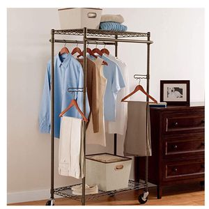 2 Wardrobe Garment Organizers ... Perfect New Condition ... 2 Rows For Hanging ... 2 Shelves For Boxes And Shoes ... ALSO 6 Full-length Zippered Bags for Sale in Trabuco Canyon, CA