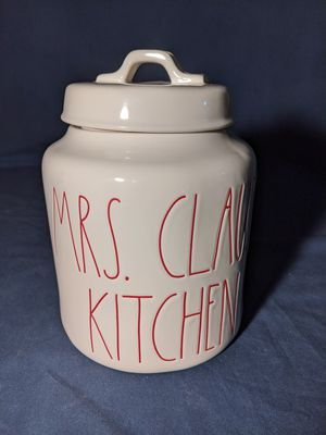Rae Dunn MRS. CLAUS'S KITCHEN Canister for Sale in Fresno, CA