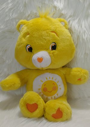"14"" FUNSHINE CARE BEAR 2007 YELLOW FUN SHINE SUN STUFFED ANIMAL PLUSH TOY SOFT for Sale in Taylorsville, UT"