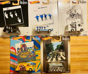 Hot Wheels The Beatles album 5-pack on real riders and all metal with gorgeous graphics. A collectors must have! New, unopened, mint for Sale in Stanley, NC
