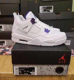 Jordan 4 Metallic Court Purple Size 6 for Sale in Fairfax, VA
