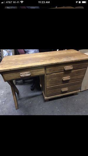 Brandt Ranch Oak Desk w/ Horse Shoe Pulls Cowboy Western/Farmhouse Style for Sale in Raleigh, NC