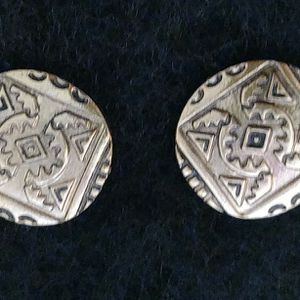 Classic Round Silver Coin Clip Earrings for Sale in West Palm Beach, FL