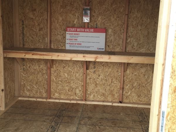 15% off of this Tuff Shed KR 600 8x8 storage shed
