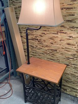 Side table with lamp and caddy for Sale in Seattle,  WA