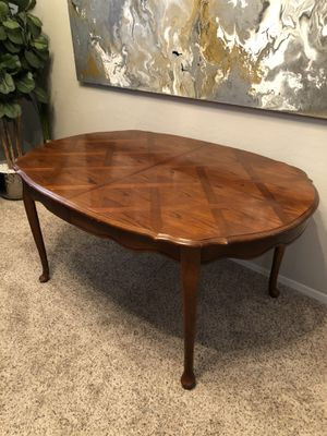 Gorgeous solid wood Dining table Oval kitchen table oval Desk for Sale in Gilbert, AZ