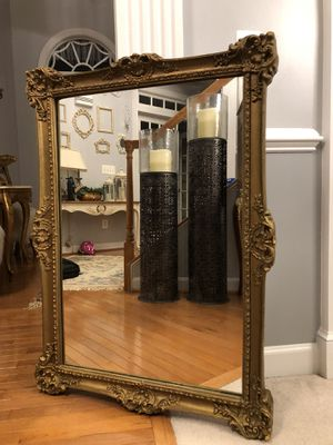 """42""""X30"""" Large Antique French Gold Wooden Mirror""""SERIOUS INQUIRIES PLEASE """" for Sale in Gainesville, VA"""