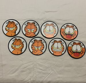 1978, two sets of 4 (8) Vintage Garfield Coasters for Sale in Aloha, OR