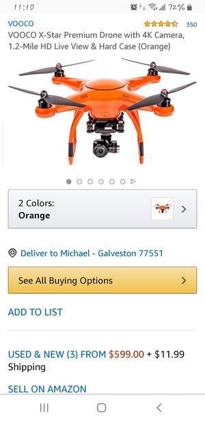 Autel x star premium drone for Sale in Galveston, TX