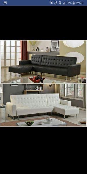 Brand New Black or White Futon Sectional for Sale in Austin, TX