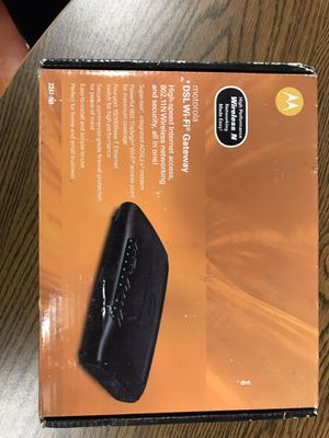 Motorola DSL Modem & WiFi Router (802.11n) for Sale in Woburn, MA