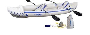New Sea Eagle Inflatable SE370 Kayak Trade Pro Package Upto 650lbs 3-Person for Sale in Naperville, IL