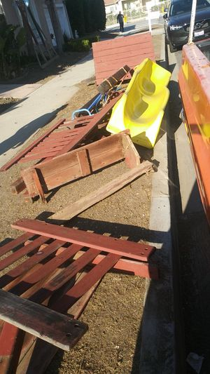 Red wood swing set for Sale in Los Angeles, CA