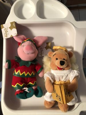 Disney Piglet elf and Pooh angel beanie dolls for Sale in Chicago, IL