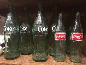 Antique vintage soda bottles coke 7-up $10 each for Sale in San Diego, CA