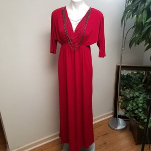 I.N Studio red long maxi dress size 8 for Sale in Powder Springs, GA