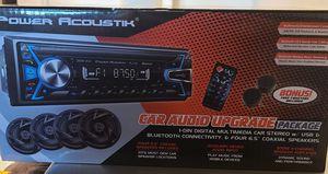 Power Acoustik Single Din Audio Head Unit, 4 Speakers and 2 Tweeters Bundle for Sale in Corona, CA