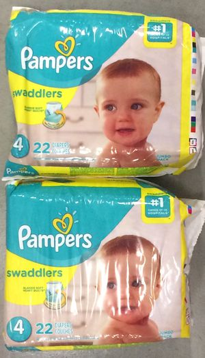 Pampers Swaddlers Diapers Sz 4, 22ct (Pack of 2) for Sale in Atlanta, GA