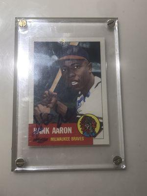 Hank Aaron signed baseball card for Sale in Nashville, TN