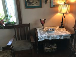 Antique table with chair for Sale in Pittsburgh, PA