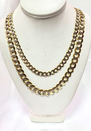 10 karat Solid Gold Cuban diamonds cut chain #699TD for Sale in Houston, TX