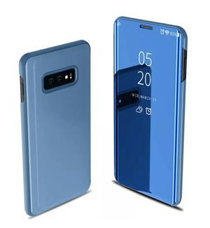 Blue Mirror Flip Phone Case Stand Cover For Samsung Galaxy S20 Ultra Plus S20+ for Sale in Los Angeles, CA
