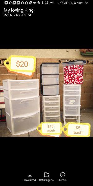 PLASTIC STORAGE DRAWERS/BINS for Sale in Henderson, NV