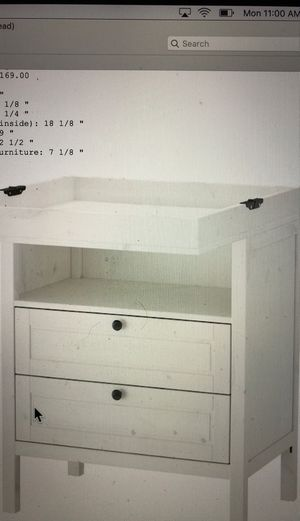 Ikea Diaper Changing Station with storage for Sale in Los Angeles, CA
