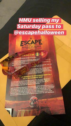 Escape Saturday pass for Sale in San Bernardino, CA