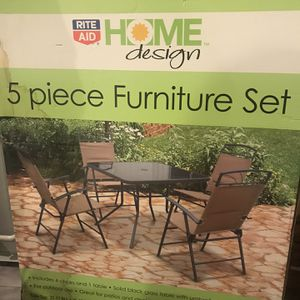 Never used - in box 5 piece patio set Bought it for $150 but never even opened it. Ended up getting a bigger set and it was too late to return this. for Sale in Reisterstown, MD