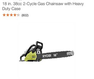 18 inches chainsaw gas $125, ryobi pressure washer $70.00, 10 inch mitersaw Ridgid $150 for Sale in Tampa, FL