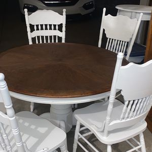 """48"""" Kitchen Table (4) Chairs for Sale in Raleigh, NC"""