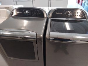 Whirlpool wascher and electric drayer good condition 90 days warranty for Sale in Mount Rainier, MD